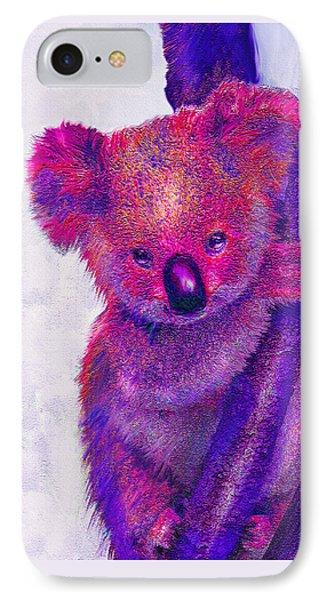 Purple Koala Phone Case by Jane Schnetlage