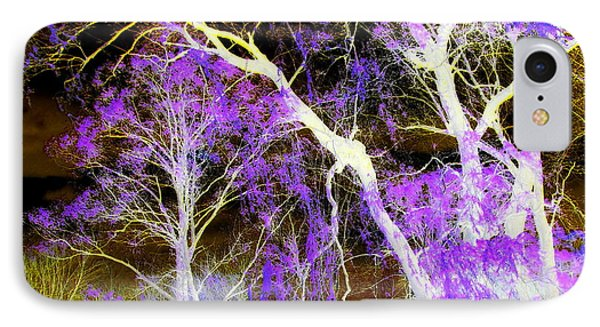 Purple Leaves And White Trees IPhone Case