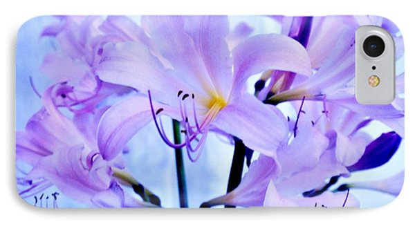 Purple Lily Bouquet IPhone Case by Marsha Heiken