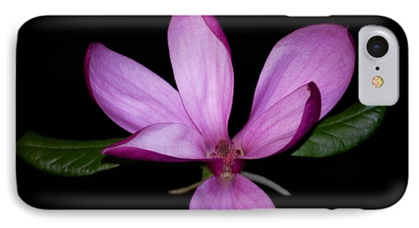 IPhone Case featuring the photograph Purple Magnolia by Nancy Bradley