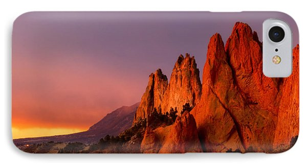 IPhone Case featuring the photograph Purple Morning At Garden Of The Gods by Ronda Kimbrow
