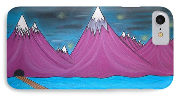 Purple Mountains IPhone Case by Robert Nickologianis