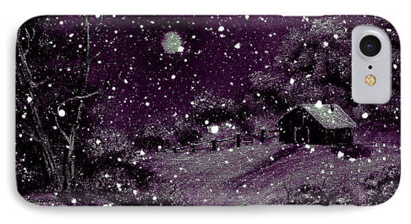 Purple Night Full Moon Phone Case by Barbara Griffin