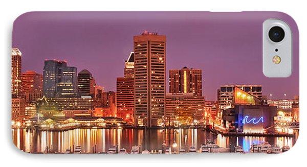 Purple Night In Baltimore IPhone Case