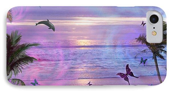 Purple Ocean Dream IPhone Case by Alixandra Mullins