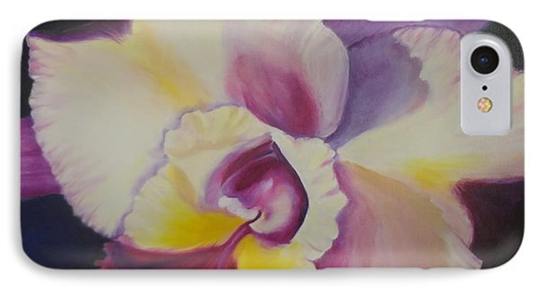 IPhone Case featuring the painting Purple Orchid by Jenny Lee