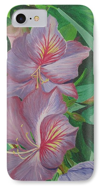 IPhone Case featuring the painting Purple Orchid Tree by Hilda and Jose Garrancho