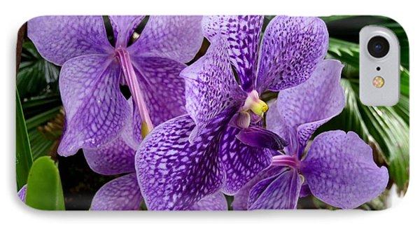 Purple Orchids Phone Case by Carey Chen