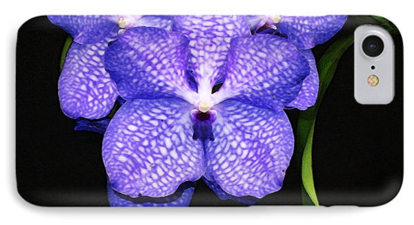 Purple Orchids - Flower Art By Sharon Cummings IPhone Case