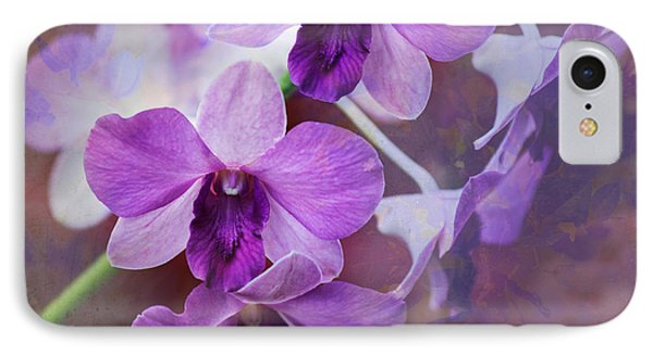 Purple Orchids IPhone Case by Sally Simon