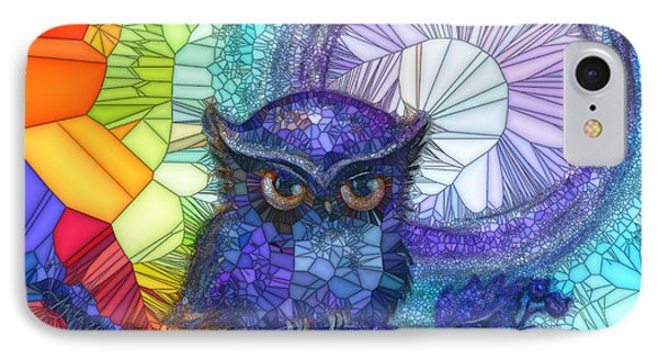 Owl Meditate IPhone Case by Agata Lindquist