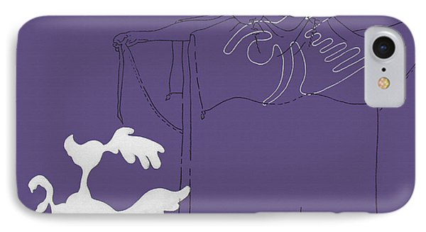 Purple Palm Springs Idyll IPhone Case