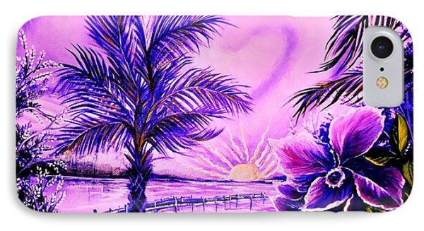 IPhone Case featuring the painting Purple Palm by Yolanda Rodriguez
