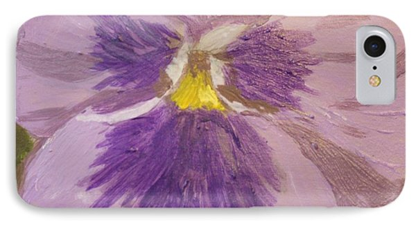 Purple Pansy 1 Phone Case by Vicki Maheu