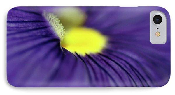 Purple Pansy Phone Case by Sabrina L Ryan