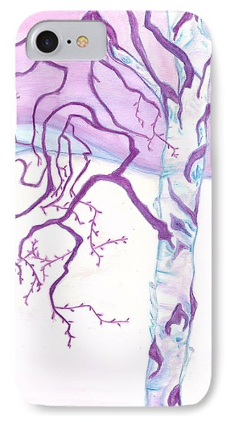 Purple Paper Birch IPhone Case by Heather  Hiland