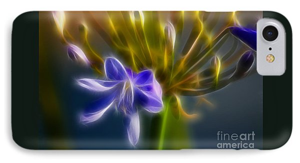Purple Passion 6318-fractal Phone Case by Gary Gingrich Galleries