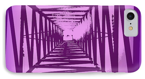 IPhone Case featuring the photograph Purple Perspective by Clare Bevan
