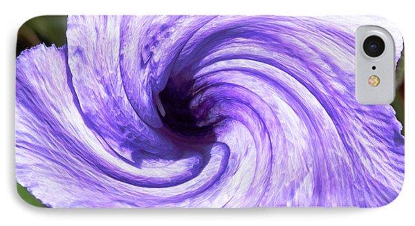 Purple Petunia Twirl IPhone Case by Belinda Lee