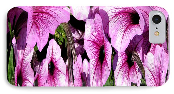 Purple Petunias Abstract Phone Case by Rose Santuci-Sofranko