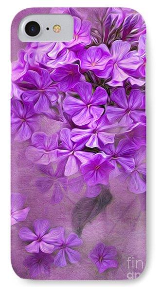 Purple Phlox Phone Case by Lena Auxier
