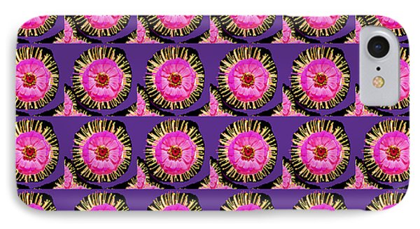 Purple Pink Flower Pattern Decoration Background Designs  And Color Tones N Color Shades Available F IPhone Case by Navin Joshi