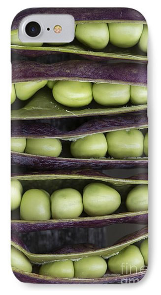 Purple Podded Pea Pattern Phone Case by Tim Gainey