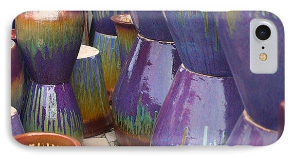 Purple Pots IPhone Case by Sally Simon