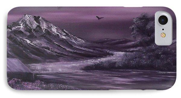 Purple Rain 2 Phone Case by Cynthia Adams