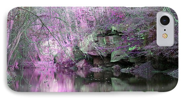 Purple Rock Reflection IPhone Case by Lorna Rogers Photography