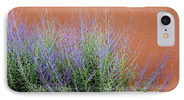 Purple Sage And Adobe Wall IPhone Case by Pattie Calfy