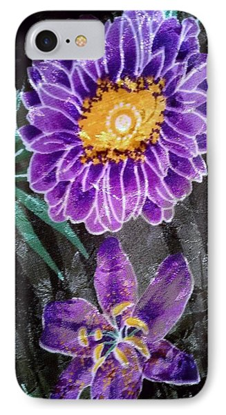 IPhone Case featuring the photograph Purple Silk by Fortunate Findings Shirley Dickerson