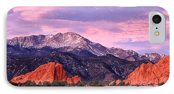Purple Skies Over Pikes Peak IPhone Case