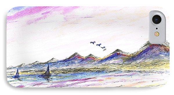 Purple Skies IPhone Case by Teresa White