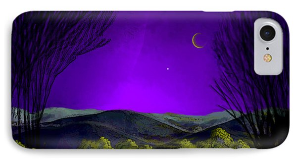 Purple Sky IPhone Case by Carol Jacobs