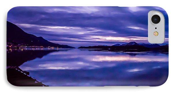 Purple Sunrise In Alaska. IPhone Case by Timothy Latta