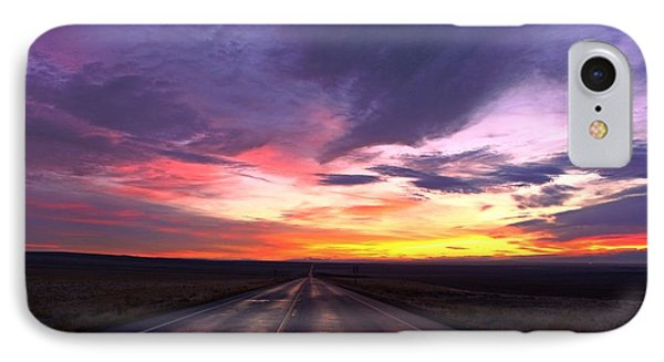 IPhone Case featuring the photograph Purple Sunrise by Lynn Hopwood