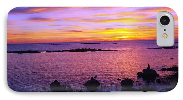 Purple Sunset IPhone Case by Sheila Byers
