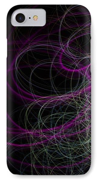 Purple Swirls IPhone Case by Cherie Duran
