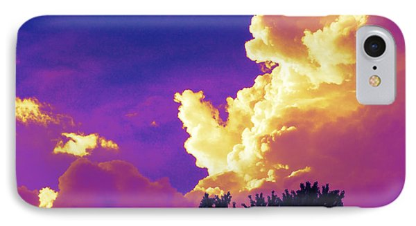 Purple Thunder IPhone Case by Deborah Fay