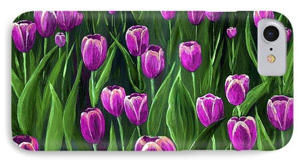 Purple Tulip Field Phone Case by Anastasiya Malakhova