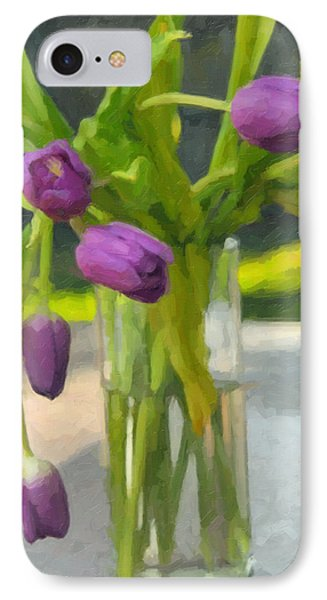 Purple Tulips IPhone Case by Kenny Francis