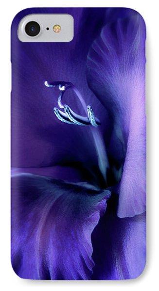 Purple Velvet Gladiolus Flower Phone Case by Jennie Marie Schell