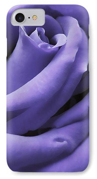 Purple Velvet Rose Flower IPhone Case
