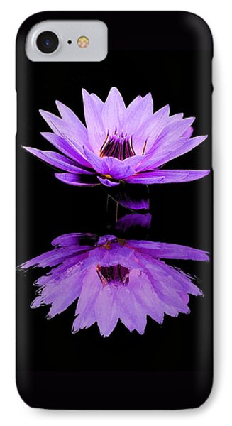 Purple Water Lily IPhone Case