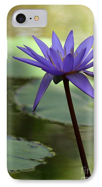 Purple Water Lily In The Shade Phone Case by Sabrina L Ryan