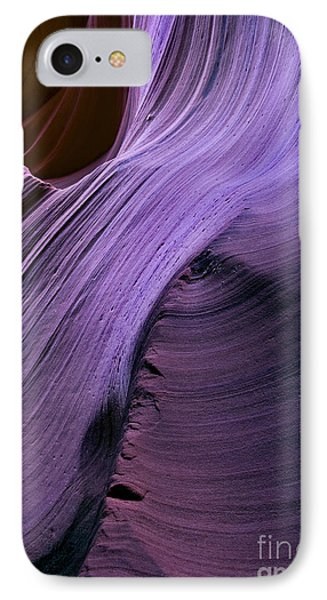 Purple Waves IPhone Case by Mike  Dawson