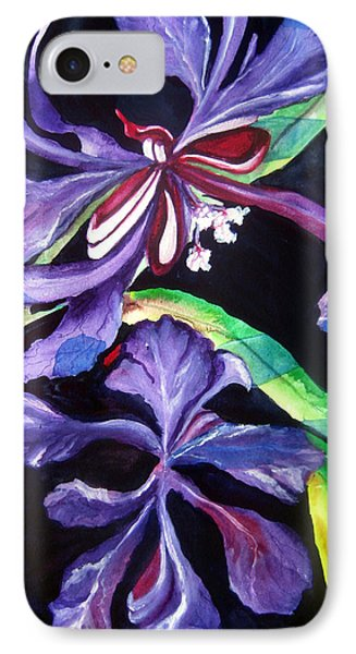 IPhone Case featuring the painting Purple Wildflowers by Lil Taylor