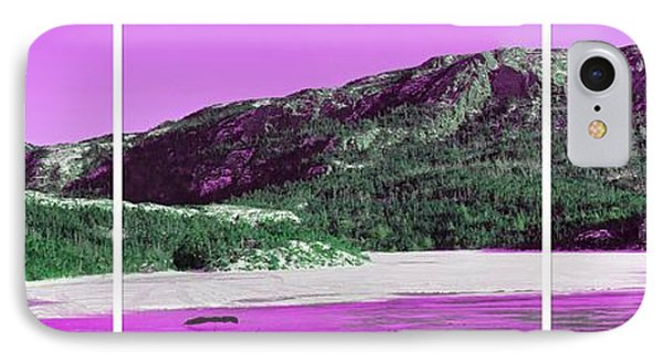 Purple Winter Triptych Phone Case by Barbara Griffin