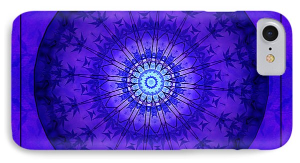 Purpleblue IPhone Case by Barbara R MacPhail